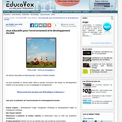Jeux éducatifs pour l'environnement et le développement durable