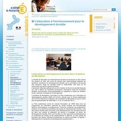 Education à l'environnement pour un développement durable (EEDD)