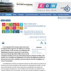 Des cubes pour l'environnement durable au CDI