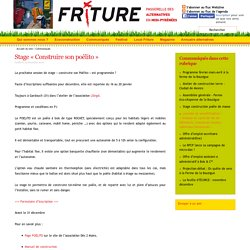 Friture - Education à l'environnement - Formation ecoconstruction - Toulouse - Insertion - Construction écologique - Alternatives Midi-Pyrénées - Stage « Construire son poêlito »