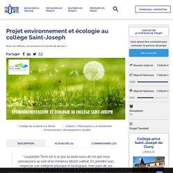 Projet environnement et écologie au collège Saint-Joseph