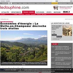 Économies d'énergie : La Motte-en-Champsaur décroche trois étoiles
