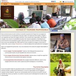 GOUDIGAN Morgane Tourisme et écotourisme équitable, durable, écologique et responsable - voyages respectant les intérêts des communautés locales et l'environnement - programmes d'écovolontariat en Afrique, en Amérique et en Asie - Absolu Voyages