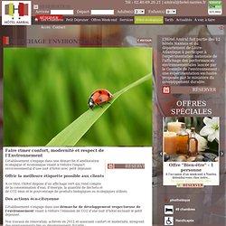 Hôtel écologique à Nantes : dans le respect de l'environnement - Affichage environnemental - Hôtel Amiral