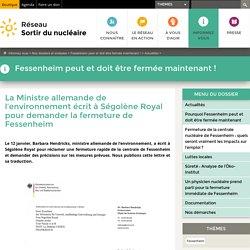 La Ministre allemande de l'environnement écrit à Ségolène Royal pour demander la fermeture de Fessenheim