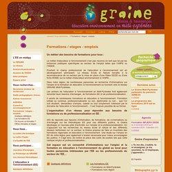 Graine Midi-Pyrénées - Réseau d'éducation à l'environnement - Formations, emplois, stages educateur environnement