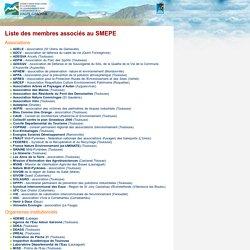 Environnement en Haute-Garonne - Liste des membres associés au SMEPE