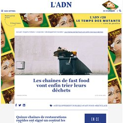 Environnement : le gouvernement oblige les fast food à trier leurs déchets
