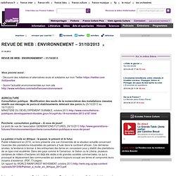 REVUE DE WEB : ENVIRONNEMENT – 31/10/2013