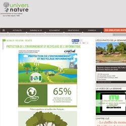 Protection de l'environnement et recyclage de l'informatique