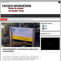 "#Corse {environnement} ""A Testa Vintilegna (littoral de Figari) toujours en danger"""