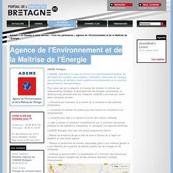 Agence de l'Environnement et de la Maîtrise de l'Énergie / Un Réseau à votre service