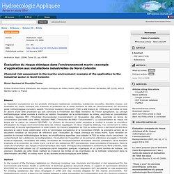 Hydroécol. Appl. (2006) Tome 15, pp. 43-85 Évaluation du risque chimique dans l'environnement marin : exemple d'application aux