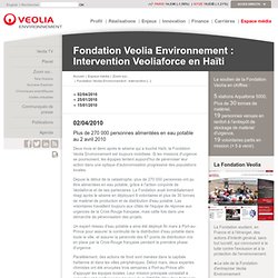 Environnement | Intervention de Veoliaforce en Haïti