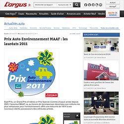 L'argus - Prix Auto Environnement MAAF : les lauréats 2011 - argusauto.com
