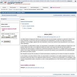 Code de l'environnement - Article L350-3