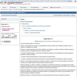 Code de l'environnement - Article L541-1-1