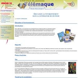 Éducation à l'environnement dans la littérature de jeunesse - fiche pedagogique
