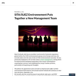 SITA/SUEZ Environnement Selects a New Management Group