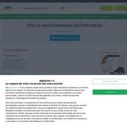 Macro-environnement : cours marketing gratuit