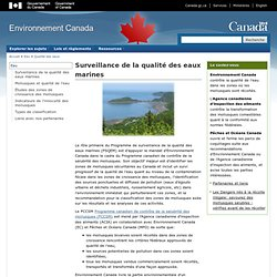 ENVIRONNEMENT CANADA - Surveillance de la qualité des eaux marines