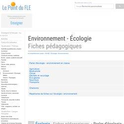 Environnement - Écologie Fiches pédagogiques