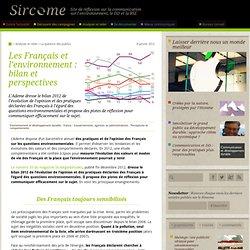 Les Français et l'environnement : bilan et perspectives
