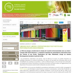 Limoges veut limiter l'exposition des tout petits aux perturbateurs endocriniens