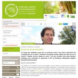 Qu'est-ce qu'un pesticide ? entretien avec Alain Garrigou - IUT Bordeaux