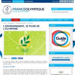L'environnement, 3e pilier de l'Olympisme -