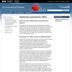 Pollution et déchets - Biphényles polychlorés (BPC)