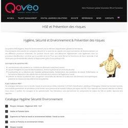 Hygiène, Sécurité et Environnement et Prévention des risques - formation e-learning par Qoveo.
