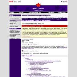 SANTE Canada - Document : le chrome et ses composés.