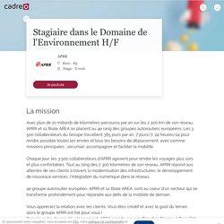 ▷ Offre Emploi Stagiaire dans le Domaine de l'Environnement BronBron (69500) - Recrutement Stage APRR