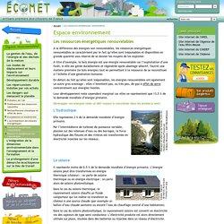 Espace environnement - Les ressources énergétiques renouvelables