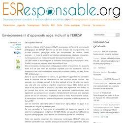Environnement d'apprentissage inclusif à l'EHESP - Développement durable & responsabilité sociétale dans l'enseignement supérieur, les formations et la recherche