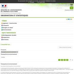 Transports et environnement [L'essentiel sur…, Environnement]:Observation et statistiques