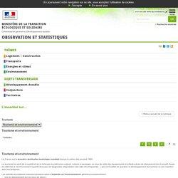 Tourisme et environnement [L'essentiel sur…, Environnement]:Observation et statistiques