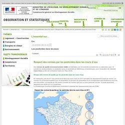 MEDDE/CGDD 29/05/13 Respect des normes par les pesticides dans les cours d'eau