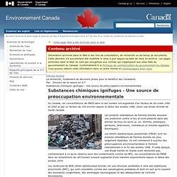 ENVIRONNEMENT CANADA 13/12/12 Substances chimiques ignifuges - Une source de préoccupation environnementale