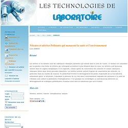 LES TECHNOLOGIES DE LABORATOIRE -N°1 - 2006Nitrates et nitrites - Polluants qui menacent la santé et l'environnement