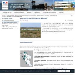Les marais de la Charente-Maritime / Marais et zones humides / Espaces naturels et biodiversité / Environnement, risques naturels et technologiques / Politiques publiques / Accueil - Les services de l'État en Charente-Maritime