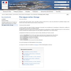 PREFECTURE DU FINISTERE 25/02/13 Plan algues vertes / Zonage