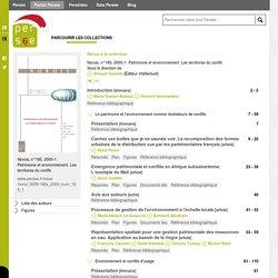 Norois, n°185, 2000-1. Patrimoine et environnement. Les territoires du conflit.