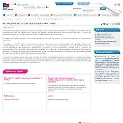 INVS 22/01/14 Méthode d'évaluation des risques sanitaires