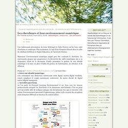 Les chercheurs et leur environnement numérique