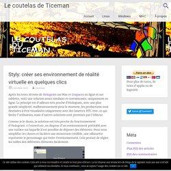 Styly: créer ses environnement de réalité virtuelle en quelques clics