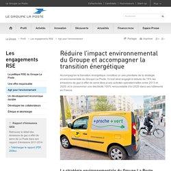 Réduire l'impact environnemental et accompagner la transition énergétique