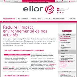 Réduire l'impact environnemental de nos activités