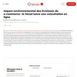 Impact environnemental des livraisons du e-commerce : le Sénat lance une consultation en ligne